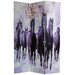"70.88"" x 47.25"" Horses 3 Panel Room Divider"