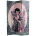 """<strong>Oriental Furniture</strong> 70.88"""" x 47.25"""" Ladies Shanghai 3 Panel Room Divider"""