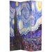 "70.88"" x 47.25"" Works of Van Gogh 3 Panel Room Divider"
