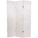 Faux Snakeskin Leather Room Divider in Antique White