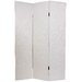 Faux Crocodile Leather Room Divider in White