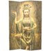 """<strong>70.25"""" x 46.25"""" Bamboo Tree Kwan Yin 3 Panel Room Divider</strong> by Oriental Furniture"""