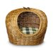 <strong>Snoozer Pet Products</strong> Wicker Colonial Plaid Cat Basket and Bed