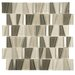 EliteTile Trapeze Random Sized Glass and Stainless Steel Mosaic Tile in Beige
