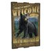 <strong>Bear Wooden Cabin Sign Wall Decor in Black</strong> by American Expedition