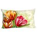 <strong>Tulips Rectangle Indoor/Outdoor Pillow in Warm</strong> by Liora Manne