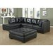 <strong>Bonded Leather Sectional</strong> by Monarch Specialties Inc.