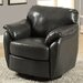 Leather-Look Swivel Lounge Chair