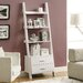 Ladder Bookcase with 2 Storage Drawers