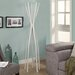 <strong>Monarch Specialties Inc.</strong> Satin Metal Contemporary Coat Rack