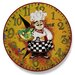 "<strong>Stupell Industries</strong> Home Décor 12"" Italian Chef Wall Clock"