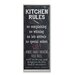 <strong>Home Décor Kitchen Rules Chalkboard Look Textual Art Plaque</strong> by Stupell Industries