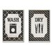 <strong>Stupell Industries</strong> Home Décor Wash and Dry Laundry Duo 2 Piece Graphic Art Plaque Set