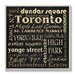 <strong>Home Décor Toronto Landmark Square Textual Art Plaque</strong> by Stupell Industries