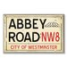 Home Décor Abbey Road NW8 Railroad Textual Art Plaque