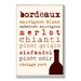 <strong>Home Décor Wine Types Typography Kitchen Textual Art Plaque</strong> by Stupell Industries