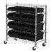 <strong>Sandusky Cabinets</strong> Mobile Bin Shelf with Bins