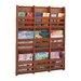 Safco Products Company Bamboo Wall Magazine Rack