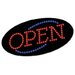 "<strong>Cosco Home and Office</strong> LED ""OPEN"" Sign, 10 1/2: x 20 1/8"", Red & Blue Graphics"