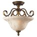 Briarcliff 2 Light Semi Flush Mount