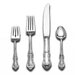 International Silver Sterling Silver Joan of Arc 4 Piece Lunch Flatware Setting