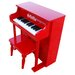 Traditional Spinet Piano in Red