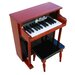 Traditional Spinet Piano in Mahogany and Black