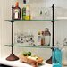 Bistro Metal and Glass Shelf