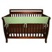 51&quot; Sage Fleece Front Crib Rail Cover