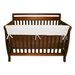 "51"" White Fleece Front Crib Rail Cover"
