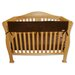 "<strong>Trend Lab</strong> 51"" Brown Fleece Front Crib Rail Cover"