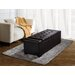 <strong>Laredo Leather Storage Ottoman</strong> by Simpli Home