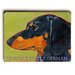 Artehouse LLC Dachshund Tan / Black Wood Sign