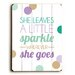 <strong>She Leaves a Sparkle Wood Sign</strong> by Artehouse LLC