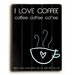 <strong>Artehouse LLC</strong> I Love Coffee Wood Sign