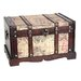 <strong>Quickway Imports</strong> Old World Map Wooden Trunk (2 Piece Set)