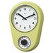 "<strong>Bai Design</strong> 8.5"" Kitchen Timer Retro Modern Wall Clock"