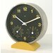 Convertible Weather Station Wall Clock with Stand in Ocher