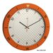 Speedmaster Wall Clock in Orange and White