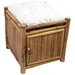 Natural Bamboo Square Storage Stool with Cushion
