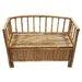 Bamboo54 Natural Bamboo Storage Bench