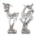 2 Piece Dancing Deer Statue Set