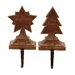 2 Piece Christmas Stocking Holders Set