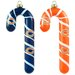 NFL Blown Glass Candy Cane Set