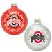 NCAA Home and Away Glass Ornament Set