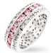 Pink Ice and Clear Cubic Zirconia Blossom Eternity Ring