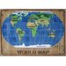 <strong>Supreme World Map Kids Rug</strong> by Fun Rugs