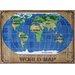 <strong>Fun Rugs</strong> Supreme World Map Kids Rug