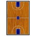 Fun Rugs Supreme Basketball Court Sports Kids Rug