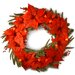 "<strong>Pre-Lit 24"" Poinsettia Wreath</strong> by National Tree Co."